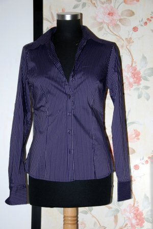 Bluse lila gestreift H&M