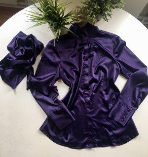 Blouse brillante violet foncé