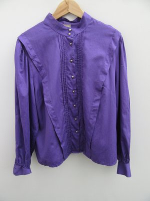 Bluse lila Tracht Vintage Retro Distler Gr. 46