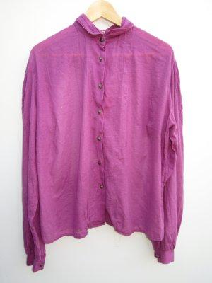 Bluse lila Vintage Retro Tracht Gr. 48
