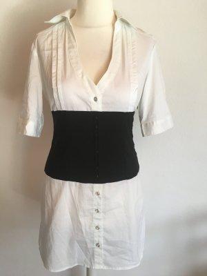 Bluse Longbluse Blusenkleid schwarz weiß sexy Gr. M