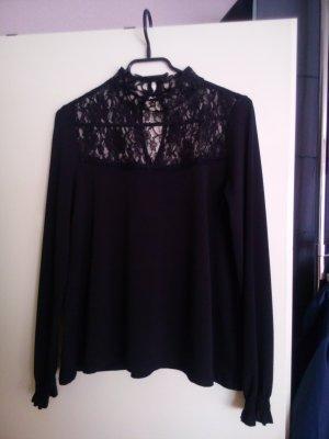 Blouse en dentelle noir polyester