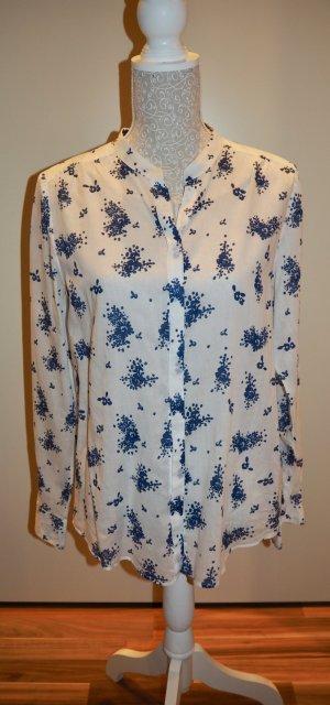 Bluse Marc O Polo 38 M weiß blau mit Blumen