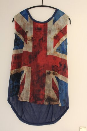 Bluse mehrfarbig mit England-flagge als Muster