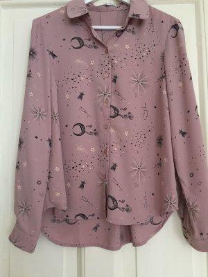 Bluse mint&berry Mond Sterne rosa – 34