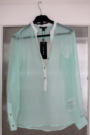 Bluse - mint - NEU - S / 36 - transparent - schick