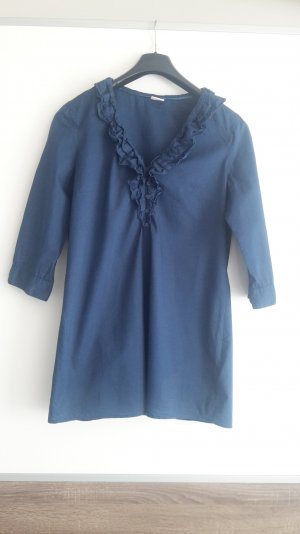 Bluse mit 3/4 Ärmel in blau von Esprit