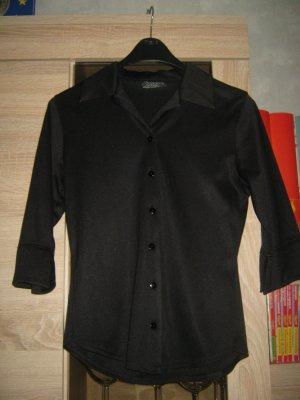 Bluse mit 3/4 Armen Gr. 34 schwarz