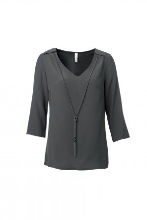 Bluse mit abnehmbarer Kette