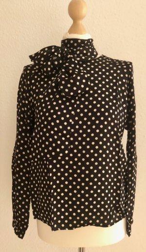 Gant Blusa con lazo negro-crema Viscosa