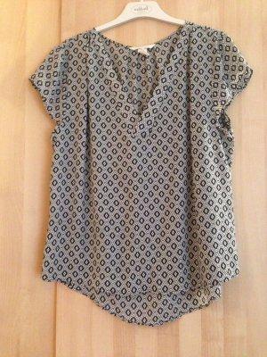 Bluse mit Ärmel mit schwarz-weiß Muster
