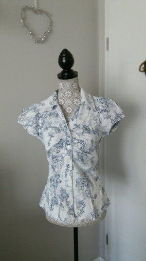 Bluse mit besticktem  Blumenmuster tailliert