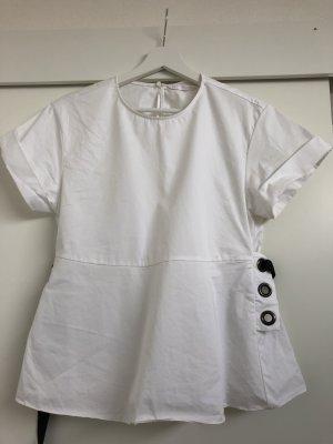 Bluse mit Bindegürtel hinten