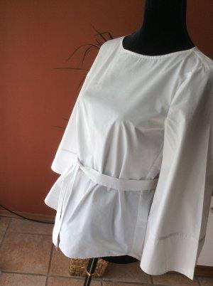 Bluse mit Bindegürtel in weiß Gr.36