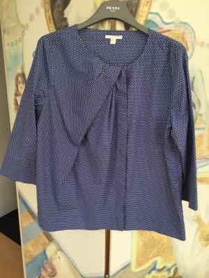 COS Blouse blue-white cotton