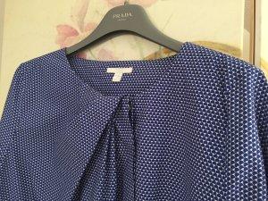 Bluse mit blau-weißem Print