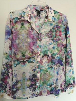 Bluse mit Blümchen  in Pastellfarben