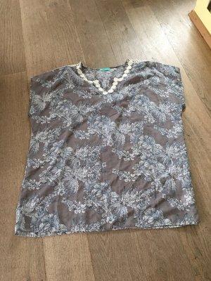 Blusa ancha gris claro-azul oscuro