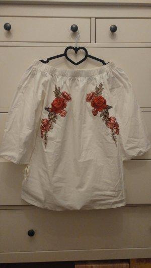 Bluse mit Blumendetails