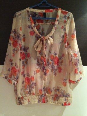 Bluse mit Blumenmuster / Gr. L