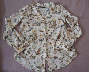 Bluse mit Blumenmuster von Zara Gr. XS
