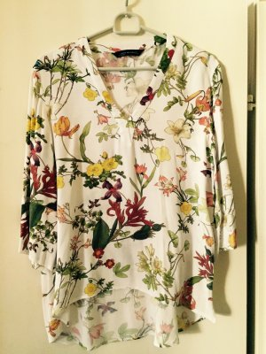 Bluse mit Blumenprint im Vokuhila Look