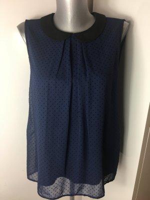 Bluse mit Bubikragen dunkelblau