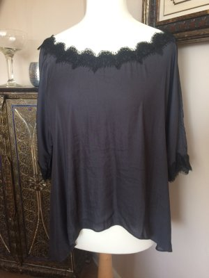 Zara Woman Carmen Blouse black-anthracite