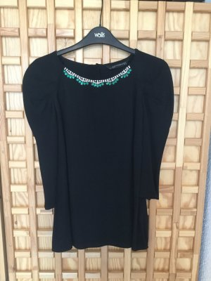Zara Blouse brillante noir viscose