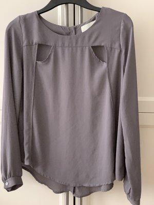 Bluse mit cut outs grau von Lelis gr L (M)