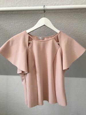 Zara Short Sleeved Blouse dusky pink-light pink