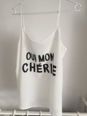 Bluse mit einem Französischem Spruch