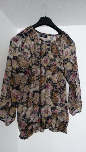 Bluse mit floralem Muster; Gr. L/44-46