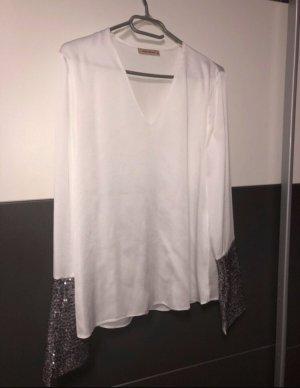 Blusa de manga larga blanco