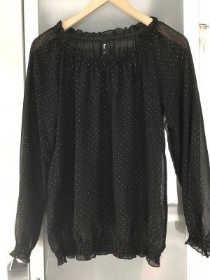 Takko Long Sleeve Blouse black-silver-colored