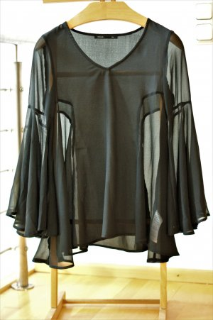 Bluse mit Glockenärmel Asos / Bloggerstil