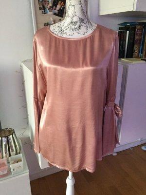 Bluse mit Glockenärmeln und Schleifen rosa Gr L wie neu