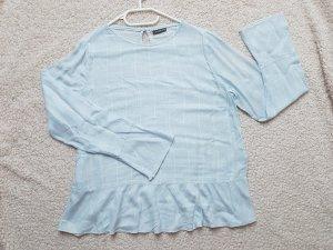 Bluse mit Glockenärmeln und Volantsaum