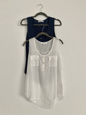 Active USA Sleeveless Blouse white-steel blue