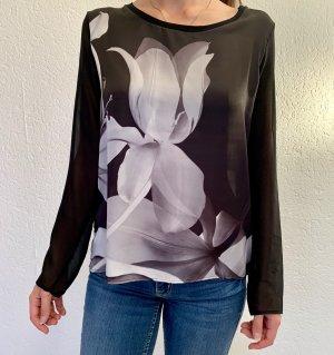 Bluse mit großer Orchidee
