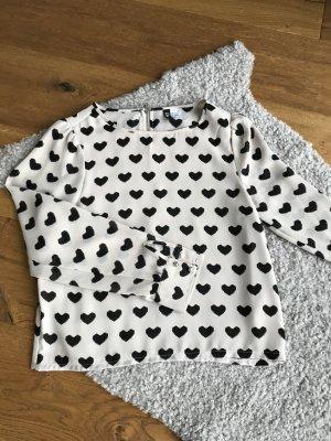 Bluse mit Herzchen von H&M