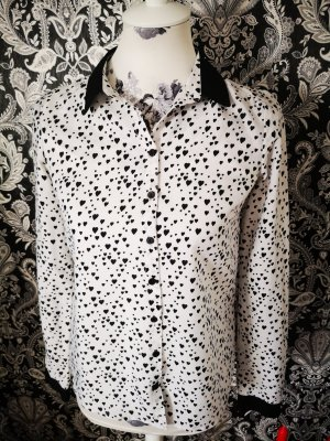 Reserved Cuello de blusa blanco-negro