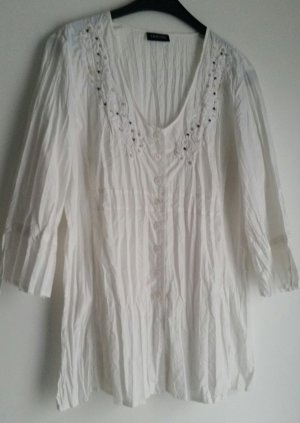 Taifun Blouse en crash blanc