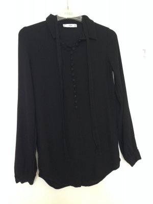 Bluse mit Knopfleiste und Bändern