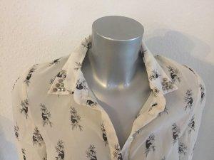 Bluse mit Koala-Print und Nieten am Kragen