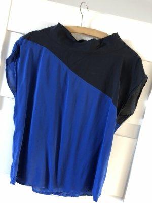 de.corp by Esprit Cuello de blusa azul-azul oscuro
