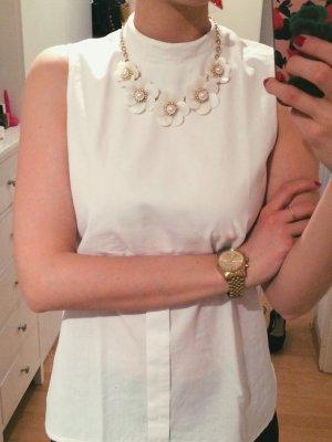 Bluse mit Kragen weiß