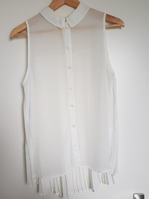 Only Blusa sin mangas blanco puro
