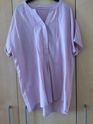 Bluse mit kurzen Ärmeln in Rosa