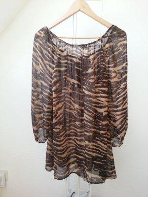 Bluse mit Leoprint / Tigeroptik